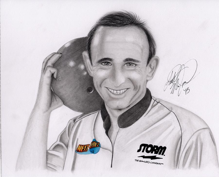 Portrait Drawing - Norm Duke by Scott McIntire