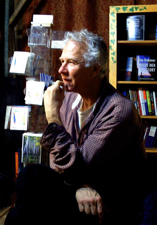 Poet Photograph - Norm Karasas At Black Cat Books by Dr Joseph Uphoff