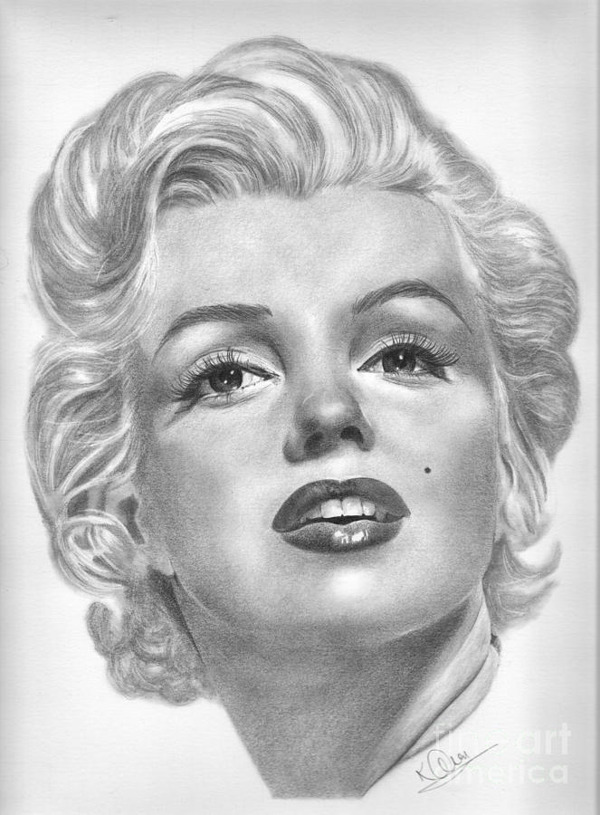 Norma Jean Drawing By Karen Townsend