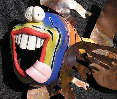 Whimsical Fish Mixed Media - Norman by Tony Longo