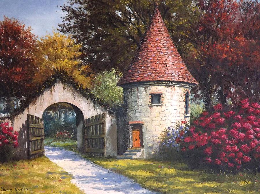 Landscape Painting - Normandy Garden by Sean Conlon