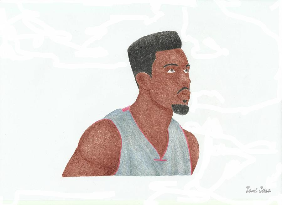 Basketball Drawing - Norris Cole by Toni Jaso