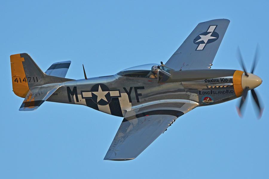 Airplane Photograph - North American P-51d Mustang Nl151hr Chino California April 29 2016 by Brian Lockett