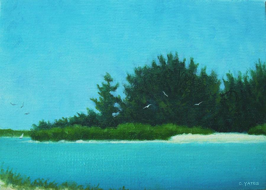 Florida Painting - North Bridge View 1 by Charles Yates