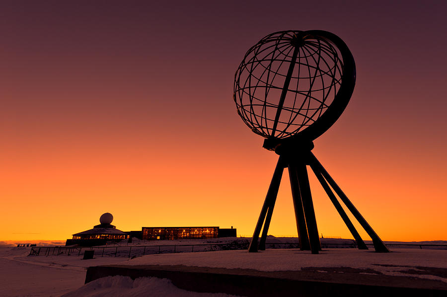 Longitude Photograph - North Cape Norway At The Northernmost Point Of Europe by Ulrich Schade