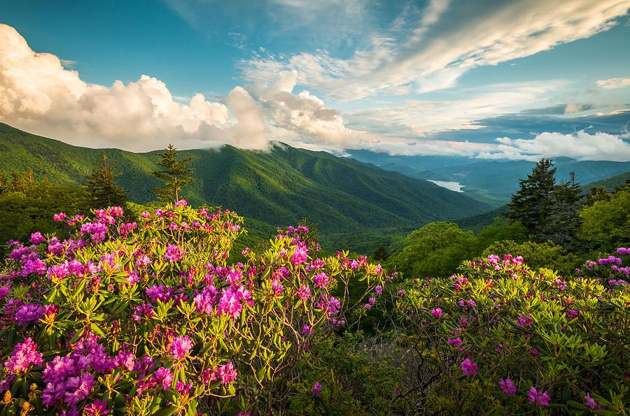 North Carolina Blue Ridge Parkway Spring Mountains Scenic