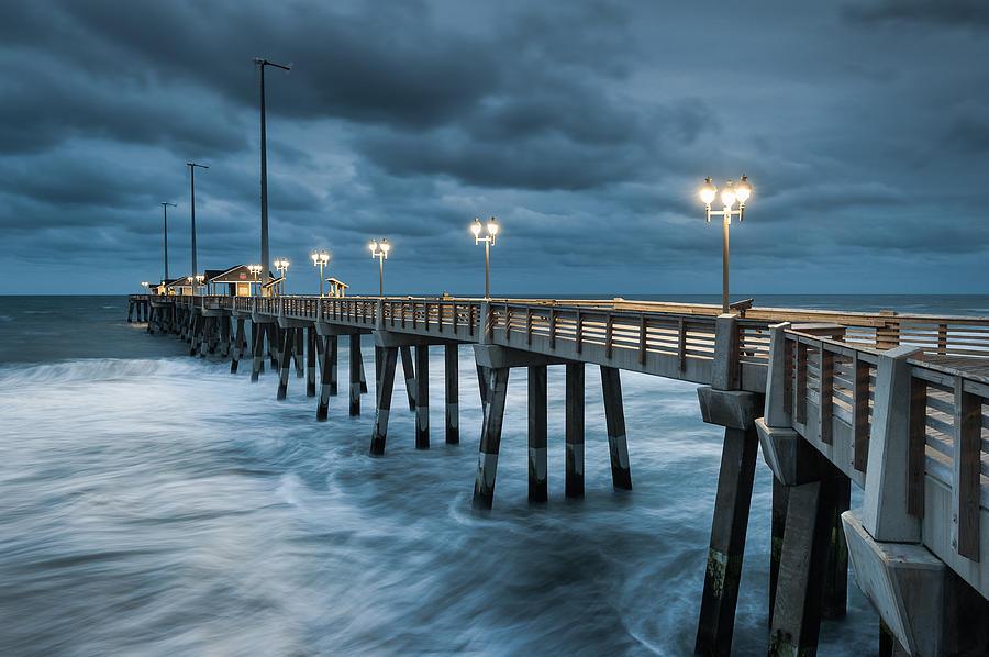 North Carolina Photograph - North Carolina Fishing Pier Outer Banks by Mark VanDyke