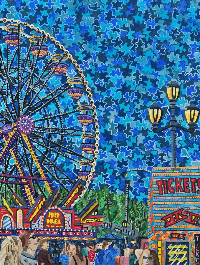North Carolina State Fair Painting - North Carolina State Fair 6 by Micah Mullen
