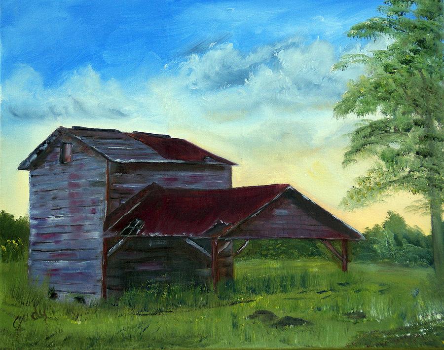 North Carolina Tobacco Barn Painting By Judy Moses