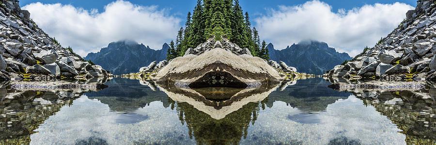 North Cascade Infinity Pool Reflection Digital Art