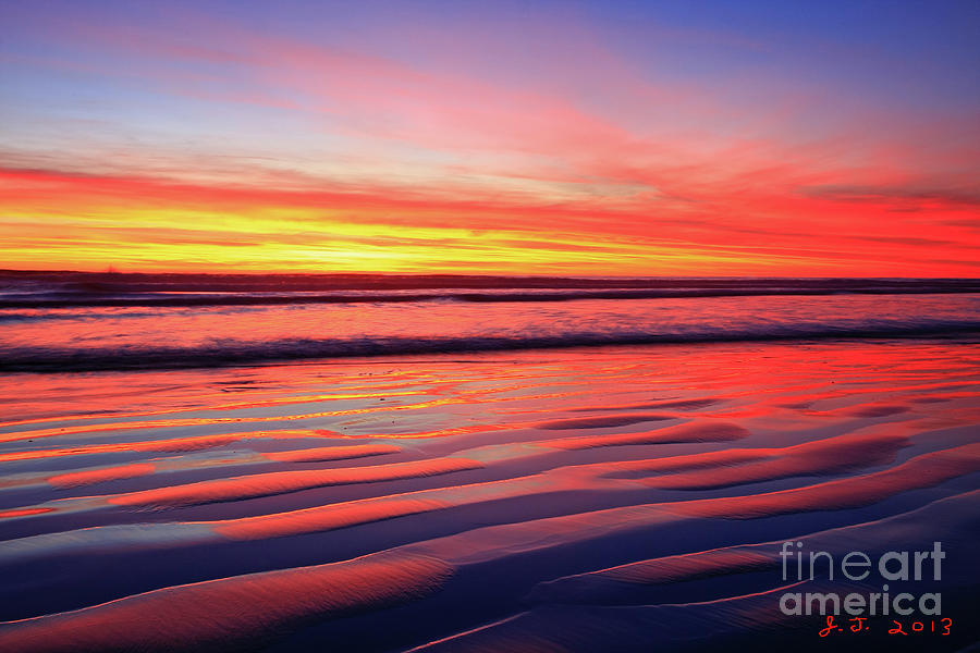 OCEANSIDE SAND RIPPLES by John F Tsumas