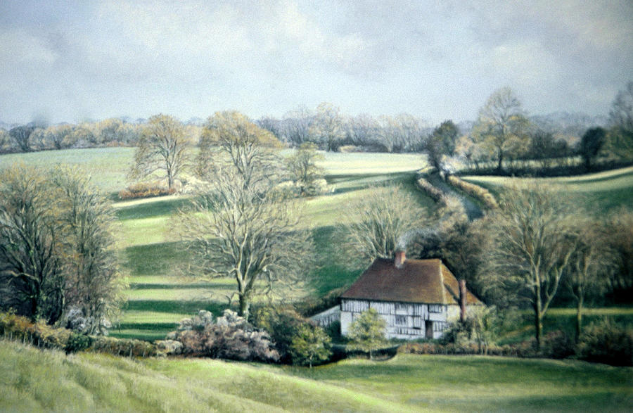 Painting Painting - North Downs Hideaway by Rosemary Colyer