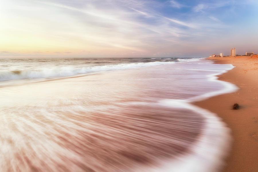 Virginia Beach Photograph - North End Virginia Beach Sunrise Seascape by Lisa McStamp