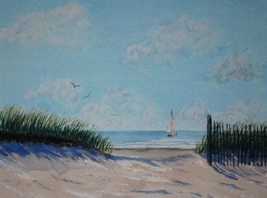 Seascape Painting - North Forest Beach by Stanton Allaben
