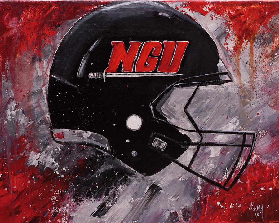 North Greenville University Football Helmet Wall Art Painting Painting