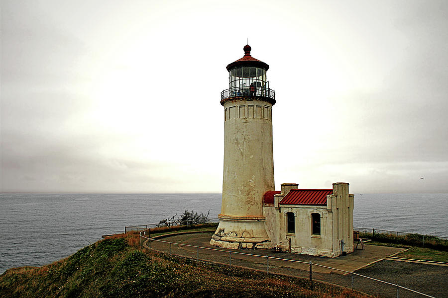 Cape Disappointment Photograph - North Head Lighthouse - Graveyard Of The Pacific - Ilwaco Wa by Christine Till