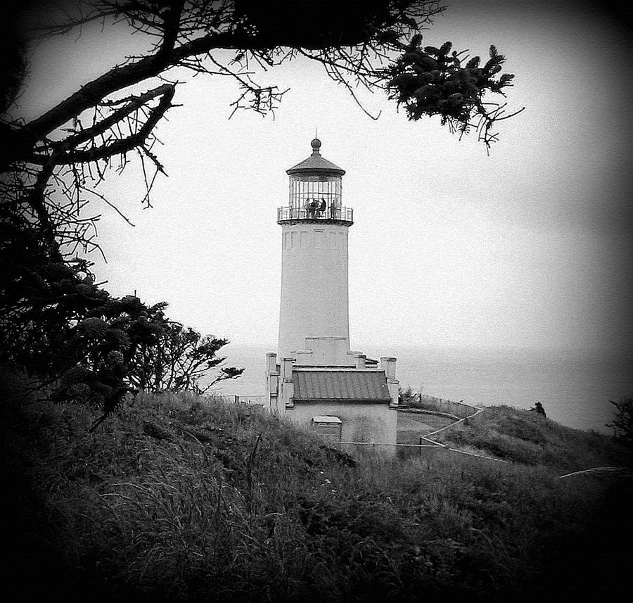 Lighthouse Photograph - North Head Lighthouse Bw by Mg Blackstock