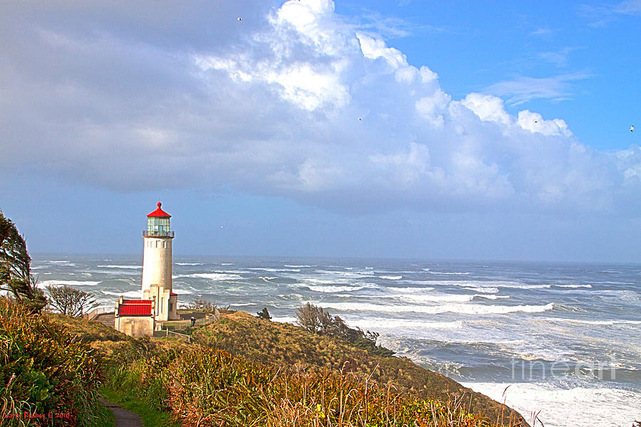 Lighthouse Photograph - North Head Lighthouse by Larry Keahey