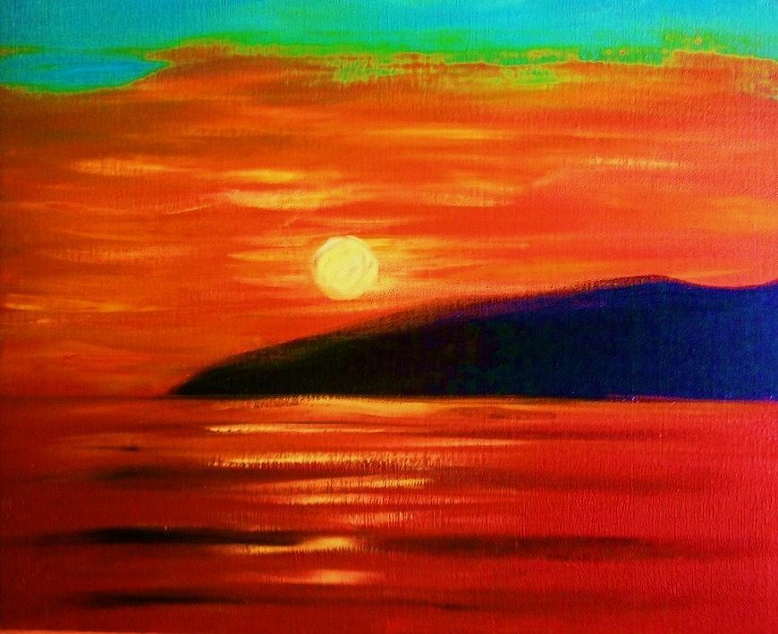 Sunset Painting - North Kohala by Charles  Jennison