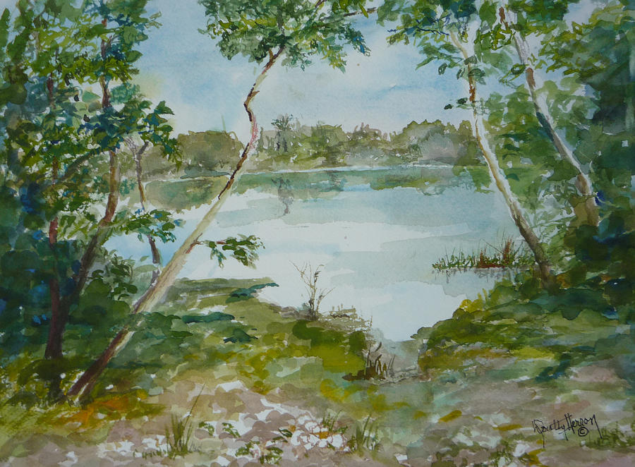 Lake Low Country Painting - North Lake by Dorothy Herron