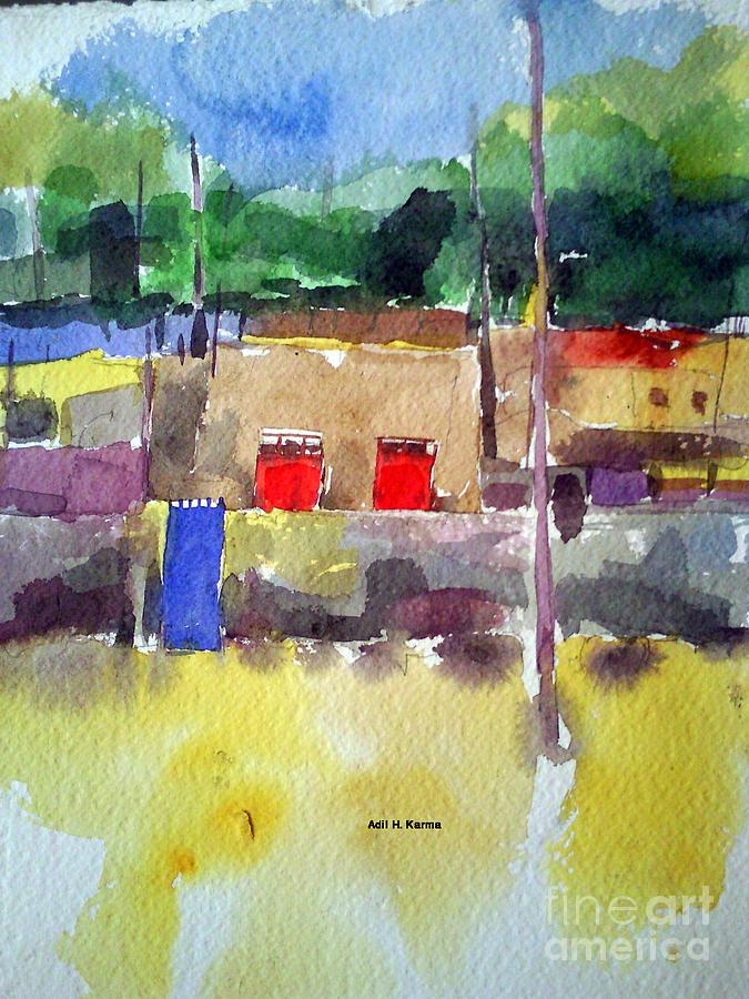 north Omdurman Painting by Adil Karma