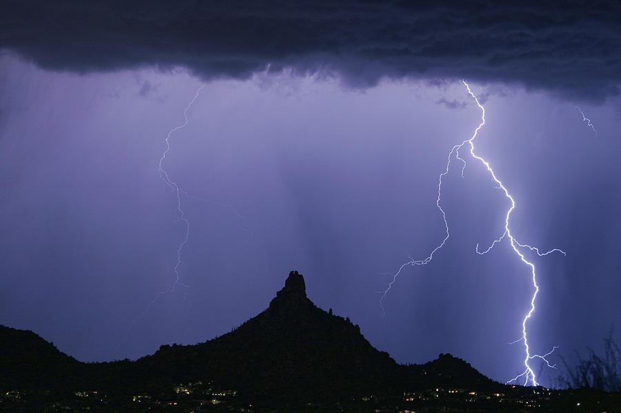 Monsoon Photograph - North Scottsdale Arizona Pinnacle Peak Monsoon by James BO Insogna