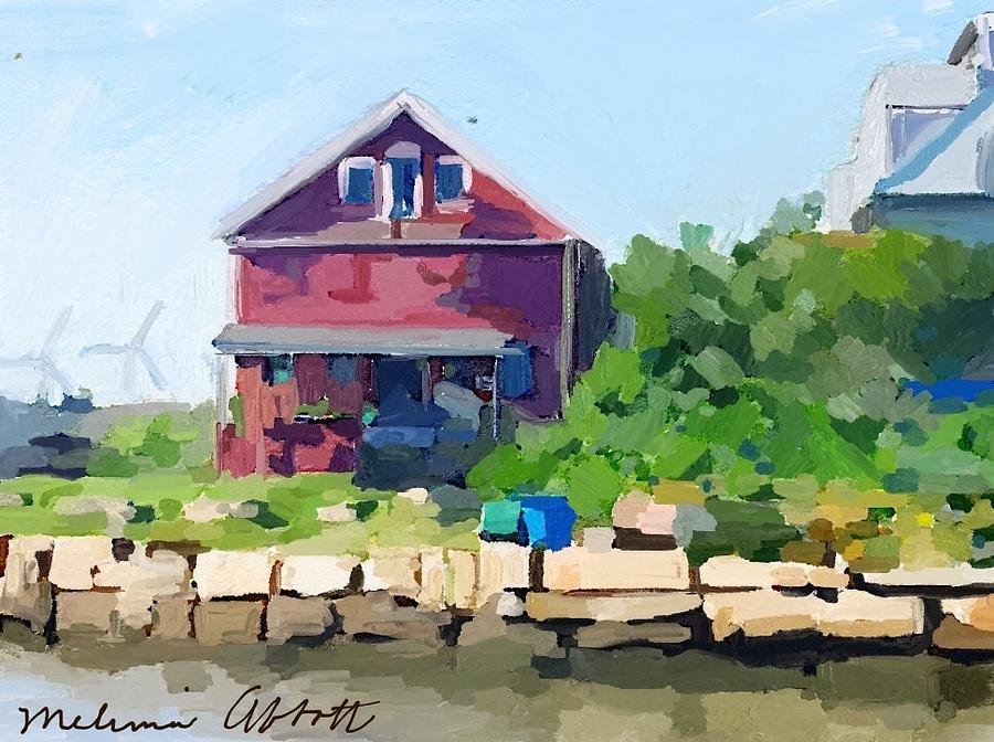 Gloucester Ma Painting - North Shore Art Association At Reeds Wharf by Melissa Abbott