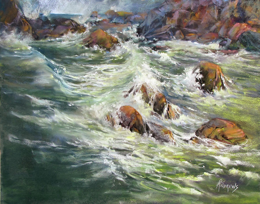 Seascape Painting - North Shore Drama by Rae Andrews