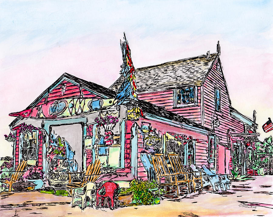 North Shore Kayak Shop, Rockport Massachusetts by Michele A Loftus
