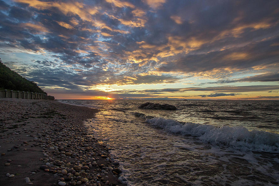 North Shore Photograph - North Shore Long Island Sunset by Roderick Breem