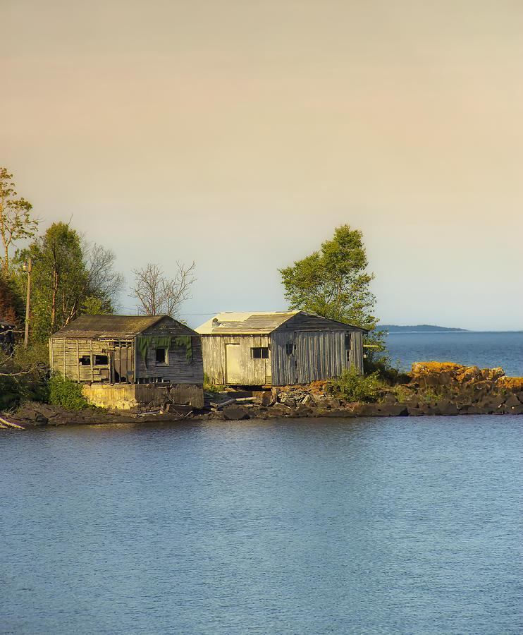 North Shore Minnesota Photograph - North Shore Old Buildings by Bill Tiepelman