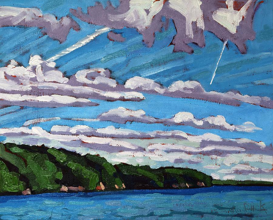 Westport Painting - North Shore Stratocumulus Streets by Phil Chadwick
