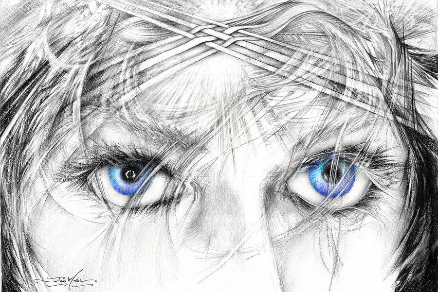 Eyes Drawing - North Star by Joan Marie