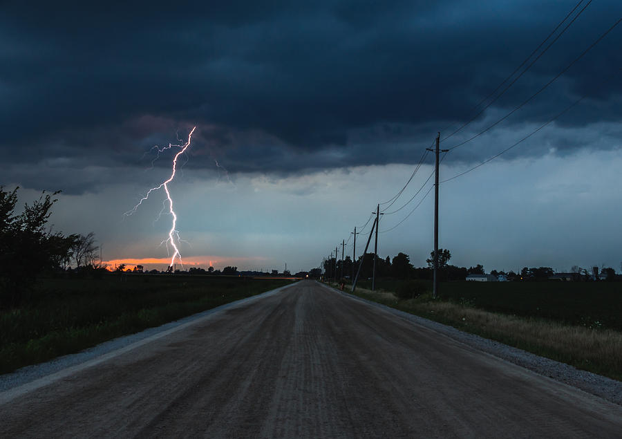 Lightning Photograph - North Talbot Road Lightning by Cale Best
