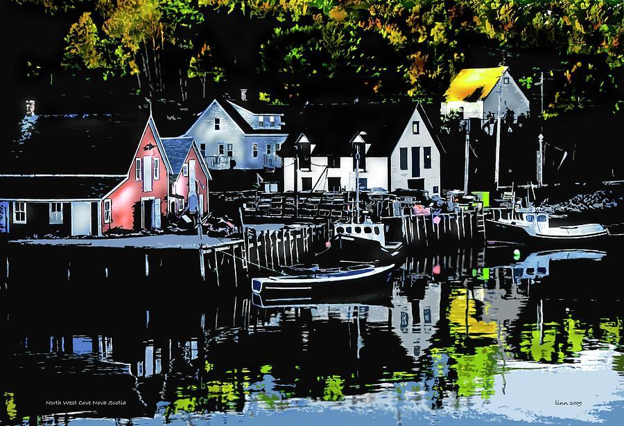 Seashore Digital Art - North West Cove Ns. by Bill Linn