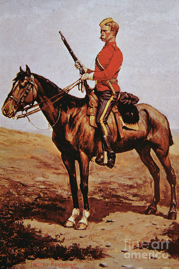 North West Mounted Police Of Canada Painting By Frederic