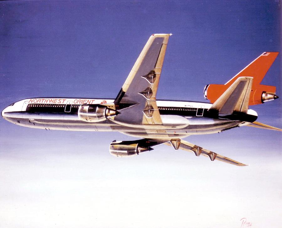 Dc-10 Painting - North West Orient DC-10-30 by Peter Ring Sr
