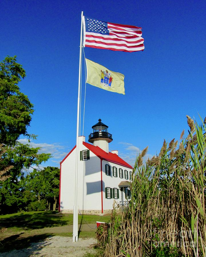 Cumberland County Nj Photograph - North Wind At East Point Light by Nancy Patterson