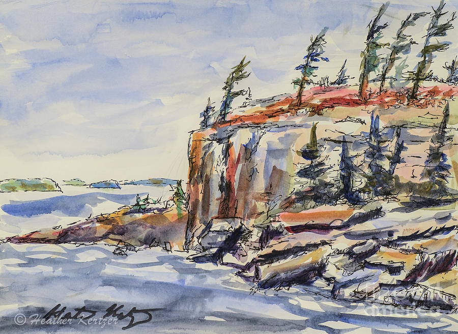 Georgian Bay Painting - North Wind by Heather Kertzer