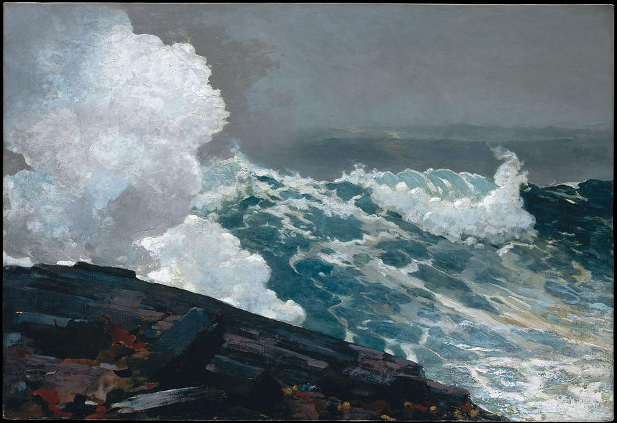 Northeaster, By Winslow Homer,  1836-1910 Painting