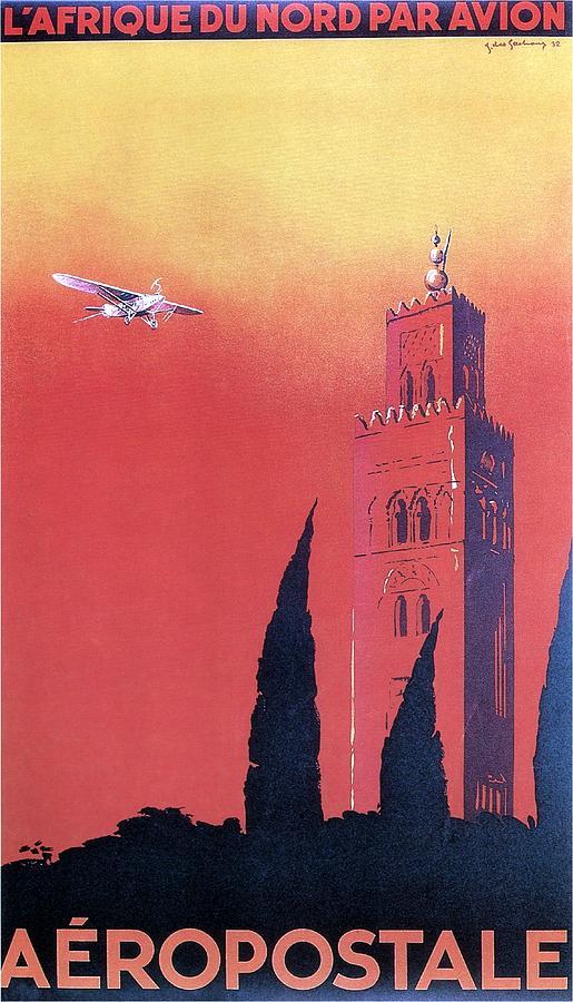 Northern Africa Painting - Northern Africa - Landscape Illustration - Vintage Travel Poster by Studio Grafiikka