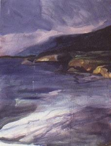 Seascape Painting - Northern California Coast by Harry  Weisburd