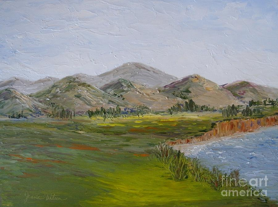 Landscape Painting - Northern California Coast Line by Jeanie Watson