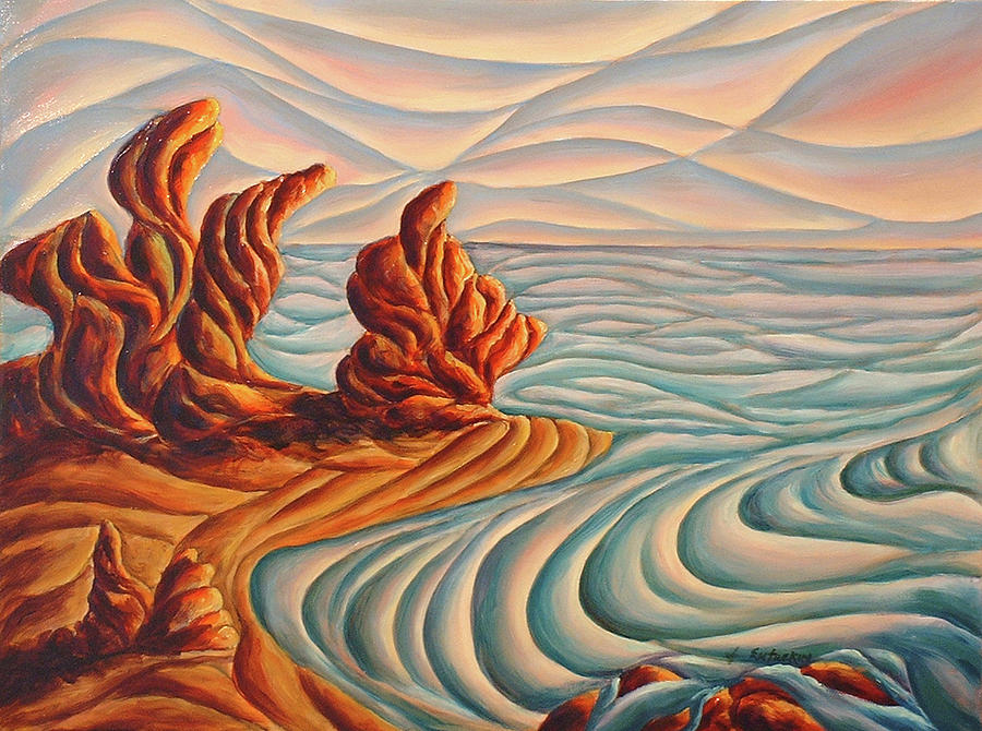 Northern California Painting - Northern California Seascape by John Entrekin