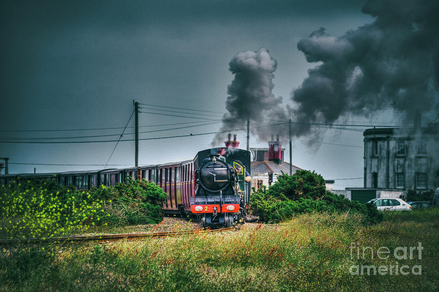 Railway Digital Art - Northern Chief by Nigel Bangert