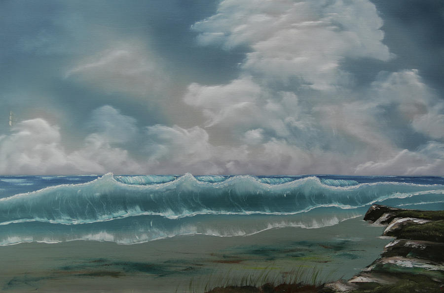 Coast Painting - Northern Coast by Robin Lee