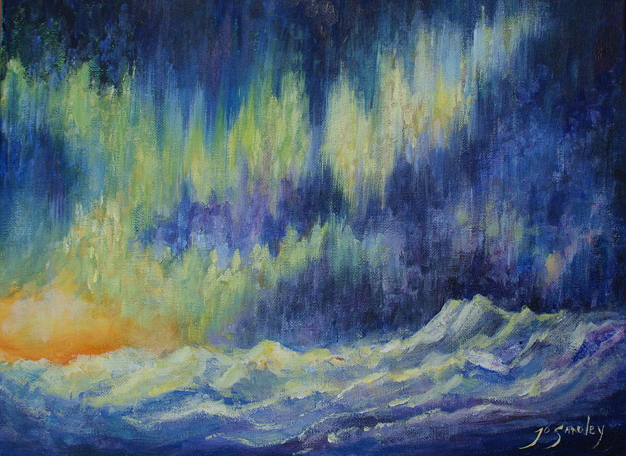 Northern Lights Painting - Northern Experience by Joanne Smoley