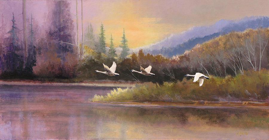 Landscape Painting - Northern Flight by Dalas Klein