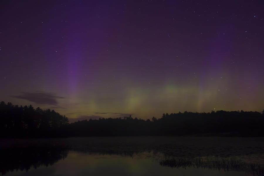 Aurora Borealis Photograph - Northern Lights At Lake Rohunta by John Burk