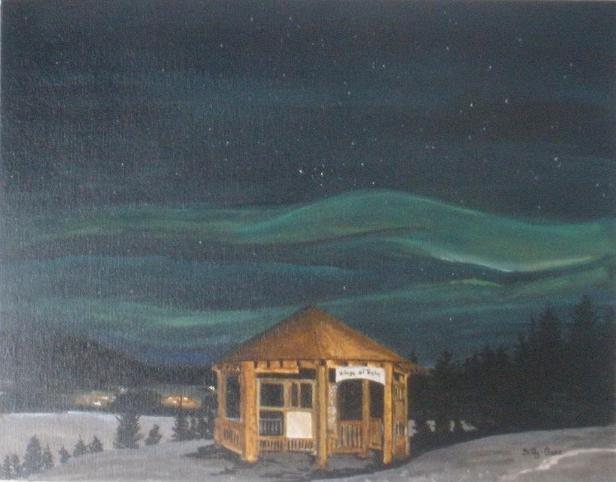 Landscape Painting - Northern Lights by Betty-Anne McDonald